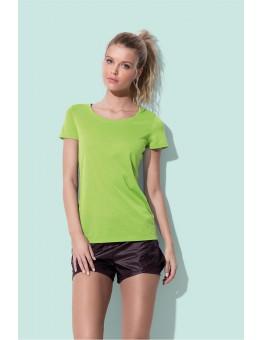 Sportief shirt polyester katoen
