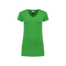 T-shirt Top met V-hals langere lengte sale artikel.