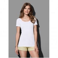 T-shirt ronde lage hals in fijn katoen.