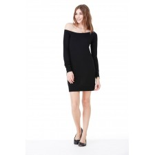 Off the shoulder Sweater Dress Raglan mouwen.