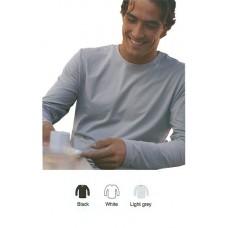 T-shirt stretch smal boord longsleeve 2 pak zwart en of wit