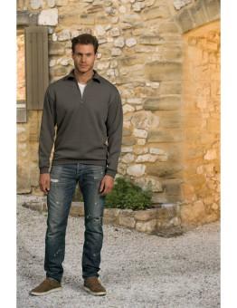 Sweater grote maat, ritssluiting in doorlopend boord