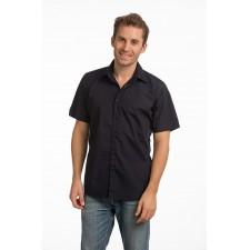 Shirt basic overhemd extra grote maat korte mouwen poplin mix