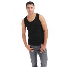 Tanktop singlet basic hemd zwart wit
