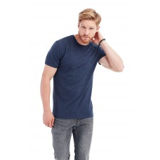 Basic t-shirt ronde hals gemeleerde kleuren