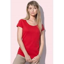 Top/T-shirt lage ronde hals finest cotton