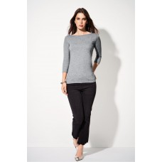 Top/T-shirt 3/4 mouw en boothals stretch