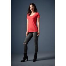 T-shirt-top-diepe-hals-trendy-kleuren