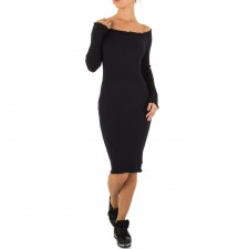Off the shoulder Black Dress van Emmash