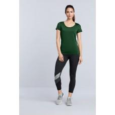 Sport T- shirt trendy lage hals