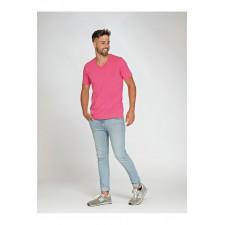 T-Shirt langere lengte V-hals elf kleuren