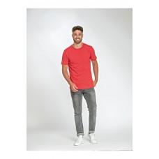 T-shirt langere lengte ronde hals stretch