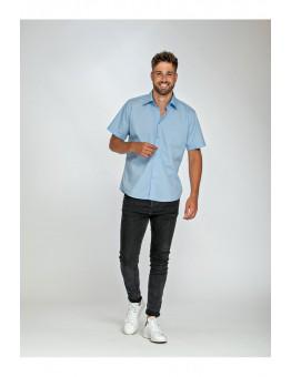 Shirt basic overhemd grote maat korte mouw