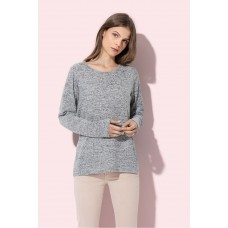 Dames Sweater Knit gebreide melange