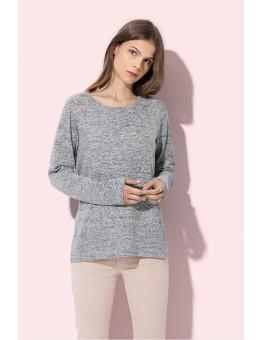 Dames Sweater Knit gebreide melange