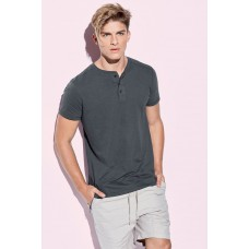T-shirt Henley drie knoopjes korte mouwen