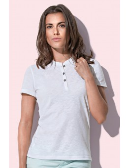 T-shirt model Henley met korte mouwen
