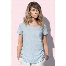 T-shirt top oversized model lage hals