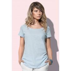 T-shirt-top-oversized-model-lage-hals