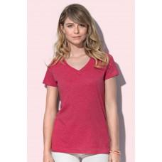 V-hals Top trendy melange kleuren
